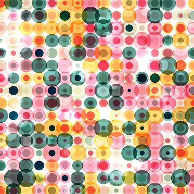 Circles Pattern Retro Background- Reuki-Art Print