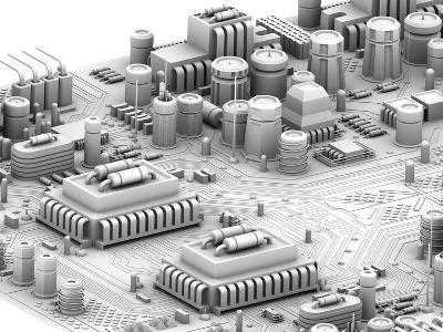 Circuit Board, Artwork-PASIEKA-Photographic Print