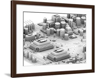 Circuit Board, Artwork-PASIEKA-Framed Photographic Print