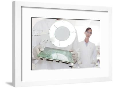 Circuit Board Manufacture-Science Photo Library-Framed Photographic Print