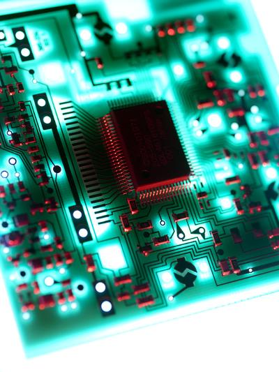 Circuit Board-Tek Image-Photographic Print