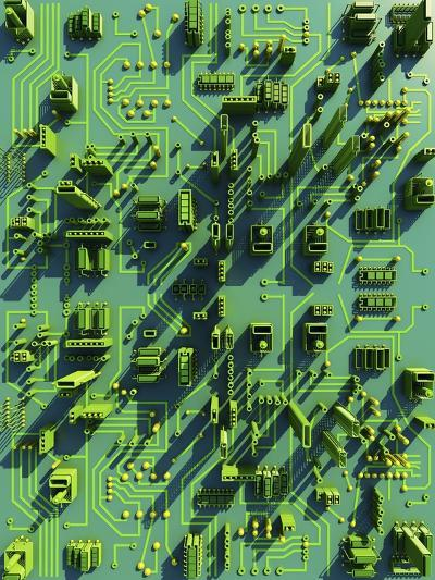 Circuit City, Computer Artwork-PASIEKA-Photographic Print