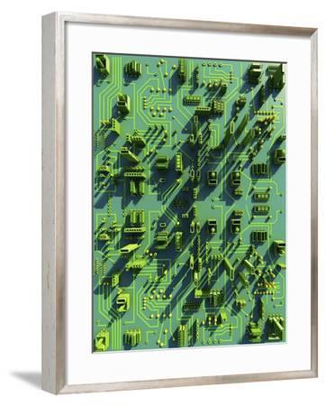 Circuit City, Computer Artwork-PASIEKA-Framed Photographic Print
