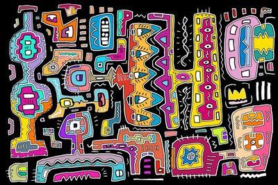 Circuits V BBG-Miguel Balb?s-Giclee Print