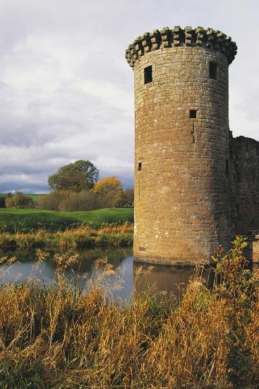 Circular Flanking Tower Along Walls of Caerlaverock Castle--Photographic Print