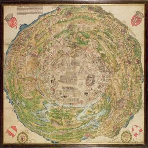 Circular Map of Vienna During the Turkish Siege, 1530