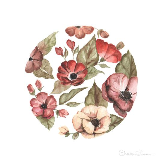 Circular Pink Florals-Shealeen Louise-Giclee Print