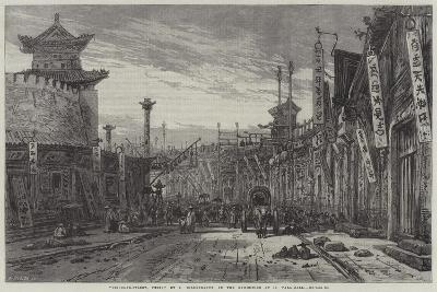 Circular-Street, Pekin-Eduard Hildebrandt-Giclee Print