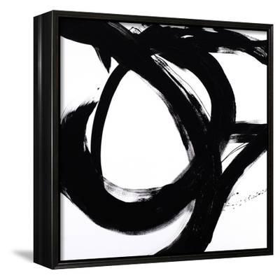 Circular Strokes I-Megan Morris-Framed Canvas Print