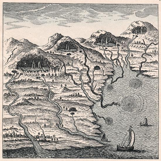 Circulation of Water Between Sea and Mountains, 1665--Giclee Print