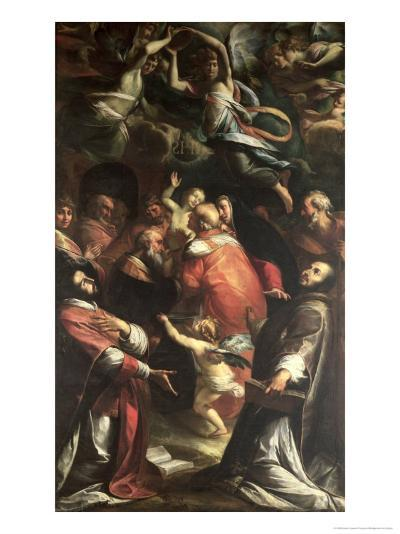 Circumcision of Christ with St. Ignatius of Loyola and St. Francis Xavier-Giulio Cesare Procaccini-Giclee Print
