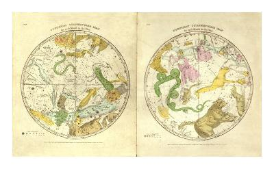 Circumpolar Map for each Month of the Year, c.1835-Elijah H^ Burritt-Art Print