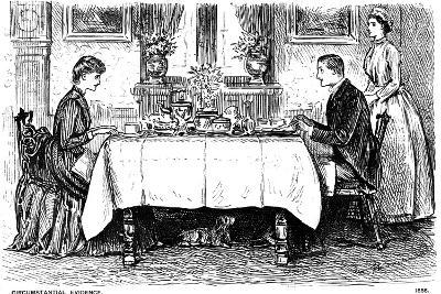 Circumstantial Evidence, 1886-George Du Maurier-Giclee Print