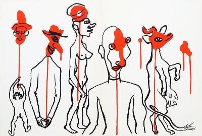 Circus 4 (Les Gueules Degoulinantes) from Derriere Le Miroir-Alexander Calder-Collectable Print
