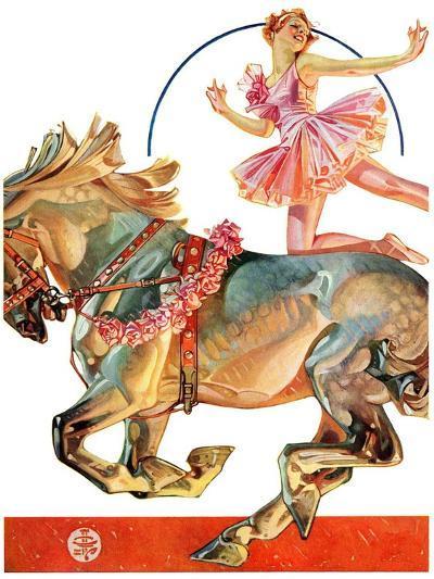 """Circus Bareback Rider,""May 14, 1932-Joseph Christian Leyendecker-Giclee Print"