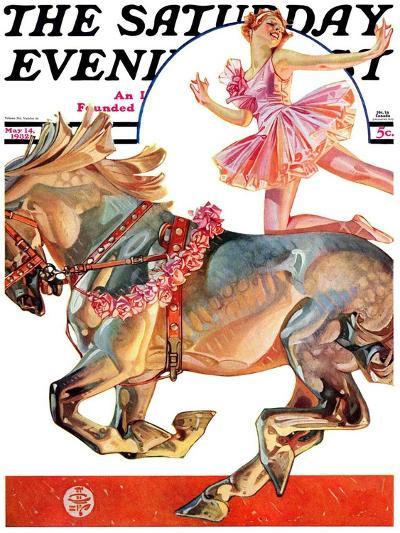 """Circus Bareback Rider,"" Saturday Evening Post Cover, May 14, 1932-Joseph Christian Leyendecker-Giclee Print"