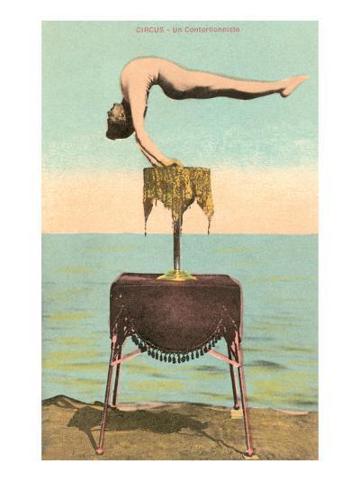 Circus Contortionist at Beach--Art Print