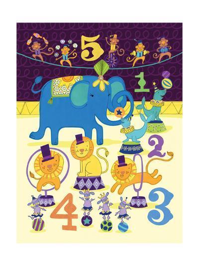 Circus Counting-Jane Smith-Art Print
