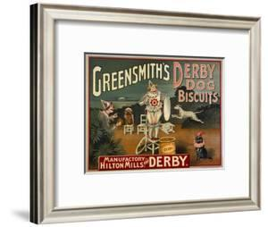 "Circus Dogs Advertising ""Greensmiths Derby"" Dog Biscuits"