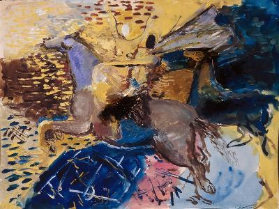 Circus Horsewoman-Vera Mikhailovna Yermolayeva-Giclee Print