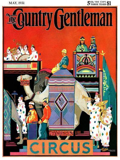 """""""Circus Parade,"""" Country Gentleman Cover, May 1, 1931- Kraske-Giclee Print"""