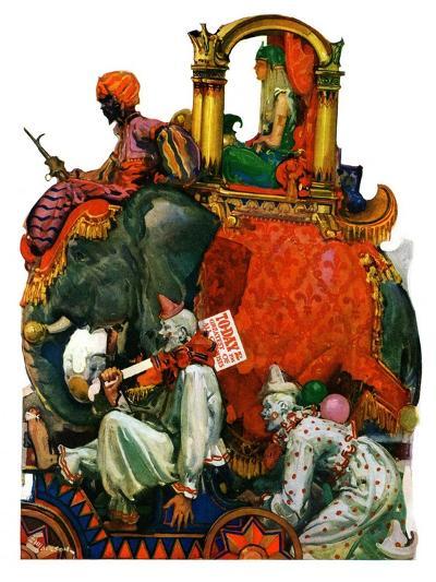 """Circus Parade,""June 16, 1928-Elbert Mcgran Jackson-Giclee Print"