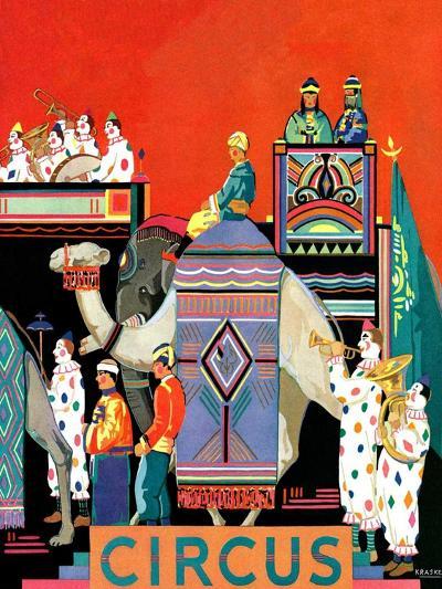 """Circus Parade,""May 1, 1931- Kraske-Giclee Print"