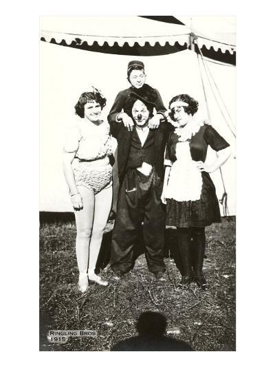 Circus Performers, Ringling Brothers, 1915--Art Print