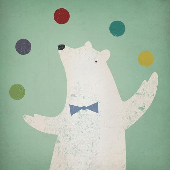Circus Polar Bear-Ryan Fowler-Art Print