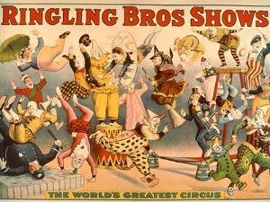 Circus Poster: Ringling Bros Shows - the World's Greatest Circus