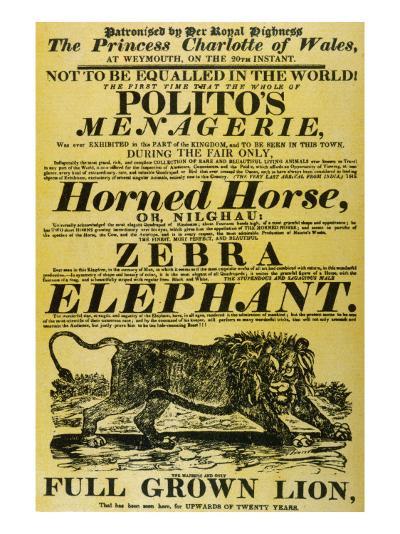Circus Poster--Giclee Print
