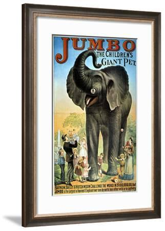Circus Poster--Framed Giclee Print