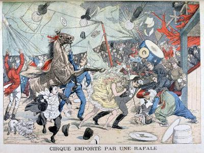 Circus Tent Blown Away, Saint Etienne, France, 1903--Giclee Print