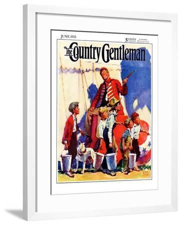 """""""Circus Work,"""" Country Gentleman Cover, June 1, 1933-William Meade Prince-Framed Giclee Print"""