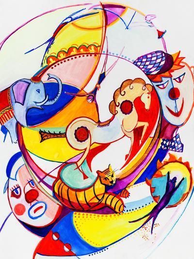 Circus-krimzoya46-Art Print