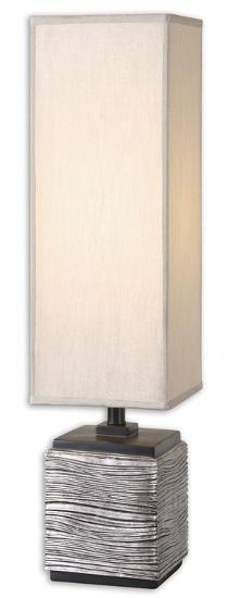 Ciriaco Antiqued Silver Buffet Lamp--Home Accessories