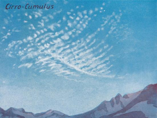 'Cirro-Cumulus - A Dozen of the Principal Cloud Forms In The Sky', 1935-Unknown-Giclee Print