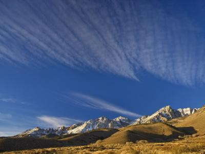 Cirrus Clouds over Eastern Sierra Nevada in Winter Seen from Buttermilk Road Near Bishop-Witold Skrypczak-Photographic Print