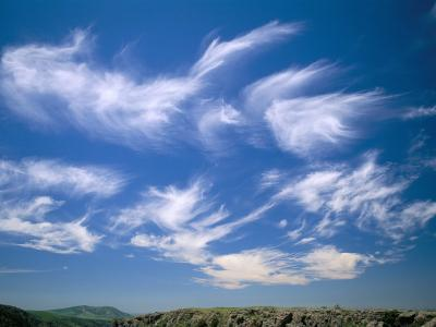 Cirrus Clouds, Tien Shan Mountains, Kazakhstan, Central Asia-N A Callow-Photographic Print