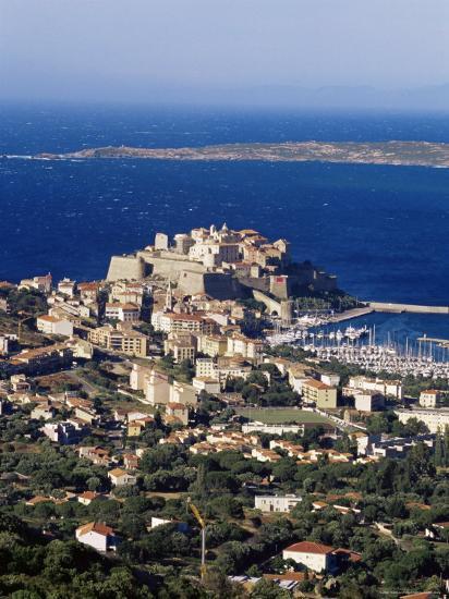Citadel and Calvi, Corsica, France, Mediterranean, Europe-Yadid Levy-Photographic Print