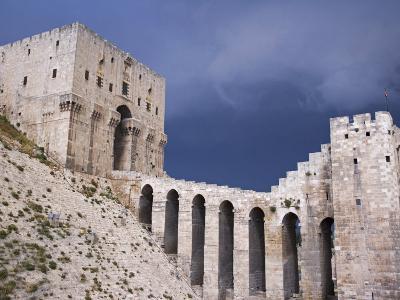 Citadel before a Storm, Aleppo-Julian Love-Photographic Print