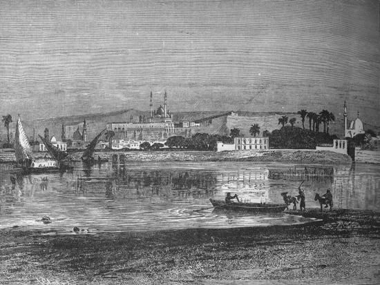 'Citadel in Cairo, from the Nile', c1882-Unknown-Giclee Print