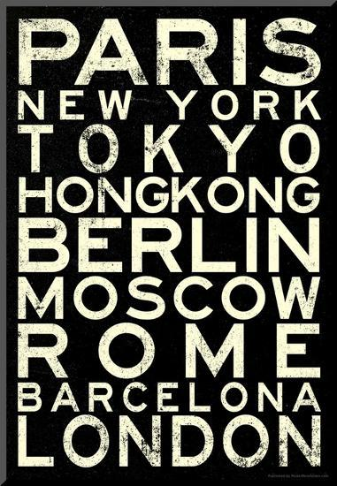 Cities of the World RetroMetro Travel Poster--Mounted Print