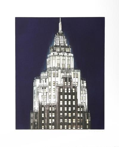 Cities Services Building (Blue)-Richard Haas-Premium Edition