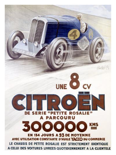Citroen, Une 8 CV-Louys-Giclee Print