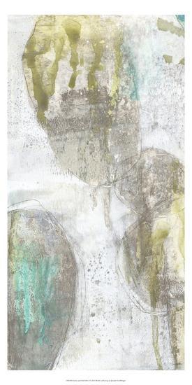 Citron and Teal Orbs I-Jennifer Goldberger-Art Print
