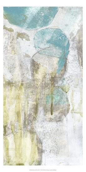 Citron and Teal Orbs II-Jennifer Goldberger-Art Print