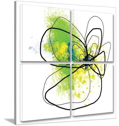 Citron Petals 4-Piece Set-Jan Weiss-Gallery Wrapped Canvas Set