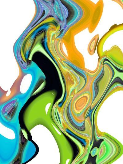 Citrus And Aqua II-Ruth Palmer-Art Print