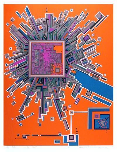 City 361-Risaburo Kimura-Serigraph